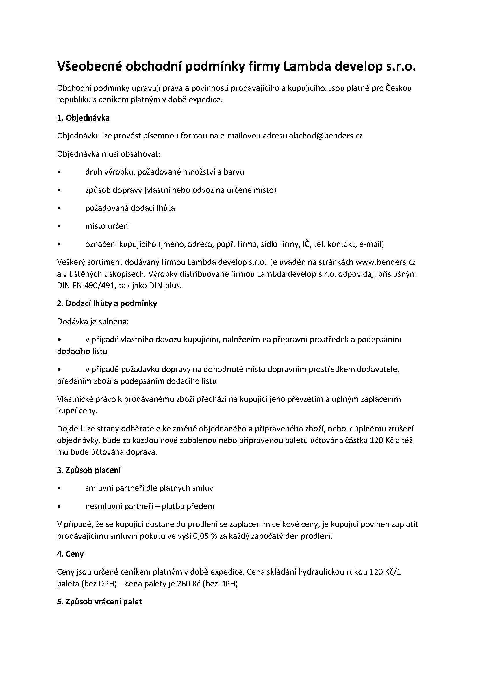 Všeobecné obchodní podmínky firmy Lambda develop_Stránka_1